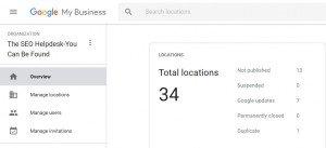 Google My Business (GMB) Agency Dashboard