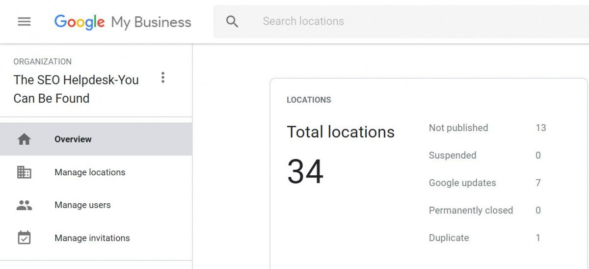 Google My Business (GMB) Agency Dashboard