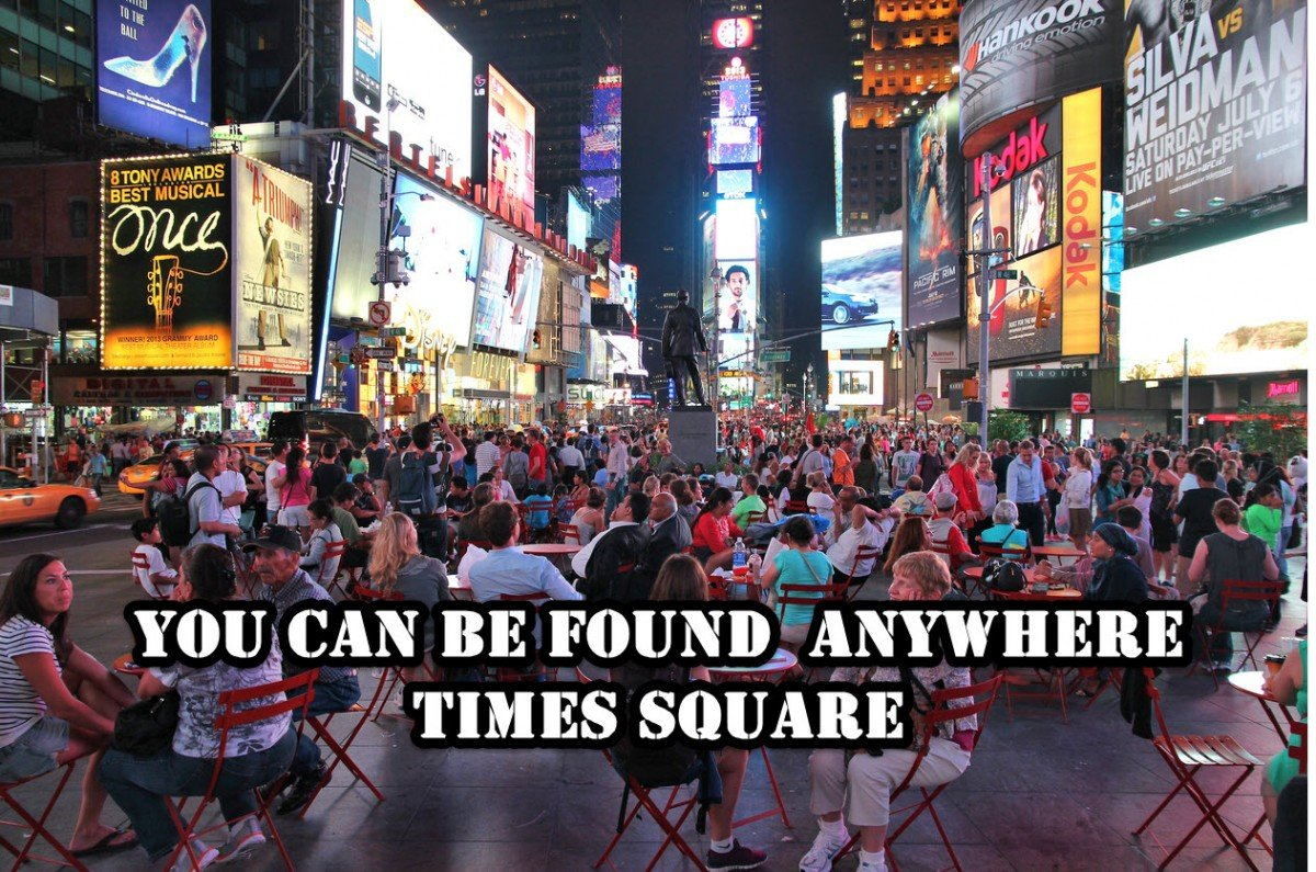Times Square YCBF Anywhere