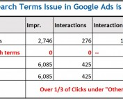 Other Search Terms Issue Google Ads