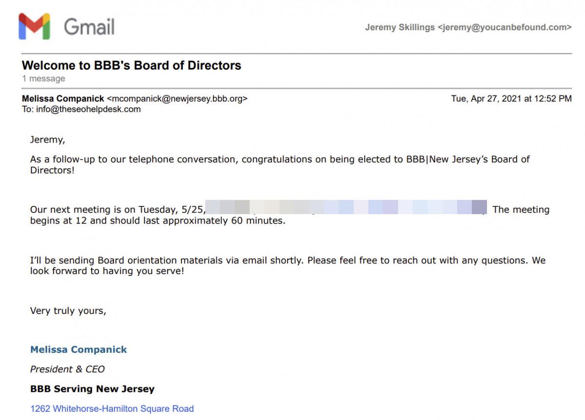 BBB Board of Directors