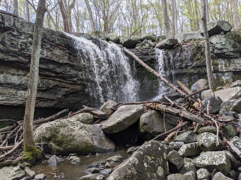 Ringing Rocks County Park Waterfall Anywhere