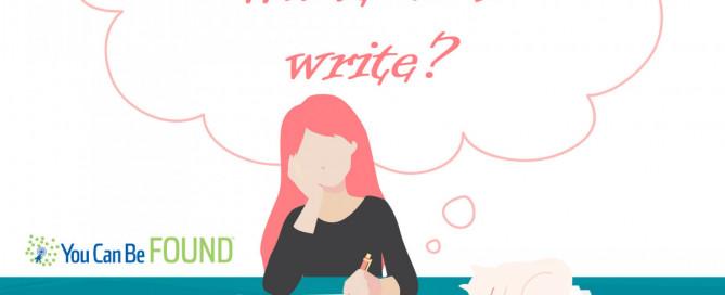 What do I write SEO Content Marketing