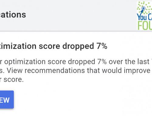 Optimization Score Dropped – Does it Matter?