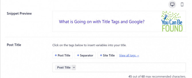 Title Tags and Google August Update 2021